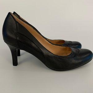 Naturalizer N5 Comfort Black Leather Pumps